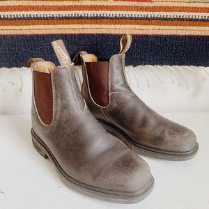 Blundstone Square Toe Brown Boots